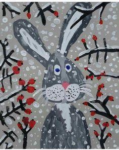 Classroom Art Projects, School Art Projects, Art Classroom, Art Lessons For Kids, Art For Kids, January Art, Winter Art Projects, Art Drawings For Kids, Theme Noel