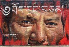 #streetart #urbanart #mural #graffiti #art #urbanstreet #urbanwalls #graffitiart by Adnate
