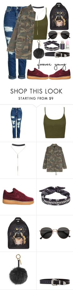 """""""🖖🏼"""" by burcaak ❤ liked on Polyvore featuring Topshop, Wet Seal, Yves Saint Laurent, NIKE, Fallon, Givenchy, H&M, Fendi, B-Low the Belt and StreetStyle"""