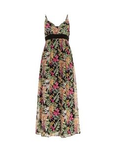 Mela Black Tropical Print Maxi Dress | New Look