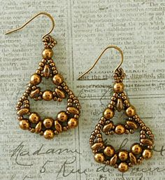 "Linda's Crafty Inspirations: Another pair of ""Fiesta Twin Earrings"""