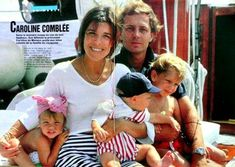 Caroline and Stefano with their 3 children Charlotte, Pierre and Andrea