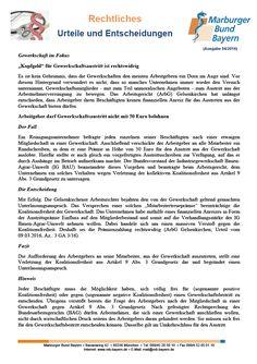 """Gewerkschaft im Fokus: """"Kopfgeld"""" für Gewerkschaftsaustritt ist rechtswidrig (ArbG Gelsenkirchen, Urteil vom 09.03.2016, Az.: 3 GA 3/16)"""