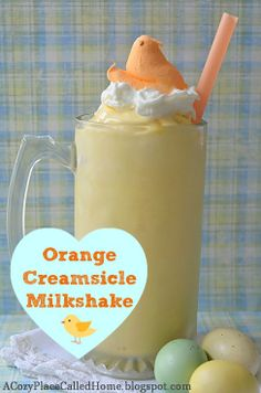 Orange Creamsicle Milkshake (Gluten Free) 5 cups vanilla ice cream cup frozen orange juice concentrate (Do not thaw or dilute.) cups milk (Depends on your desired consistency. Refreshing Drinks, Yummy Drinks, Yummy Food, Delicious Deserts, Milk Shakes, Milkshake Recipes, Smoothie Recipes, Frappuccino, Cannoli