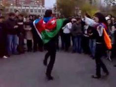 Azerbaijani (Azeri) and Armenian Dance. Азербайджанец и Армянка. - YouTube