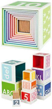 Cubes chiffres alphabet ordre couleurs