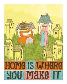 For Me its Love Home is Where You Make it by Jolby on Etsy