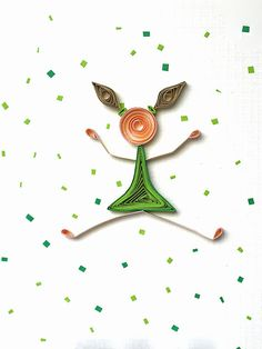 Quilling 'You're The Best'  handmade greeting card by szalonaisa, $8.00