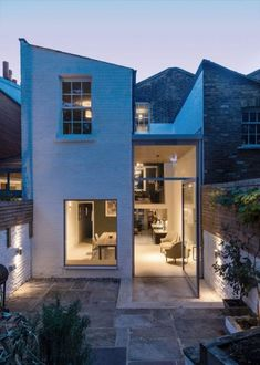 Soffit House by Proctor & Shaw wins Don't Move, Improve! House Extension Design, Extension Designs, House Design, London Architecture, Timber Cladding, House Photography, Dark Interiors, House Extensions, Terrazzo