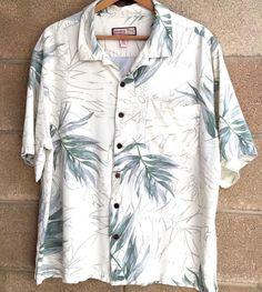 Jamaica Bay Discover Paradise Hawaiian Tiki Short Sleeve Coconut Buttons XXL #ParadiseBay #Hawaiian