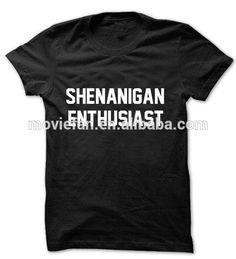 Shenanigan Enthusiast Ringer Shirt Women's Cute Shirts Shenanigan Tops Humor and Funny Shirts