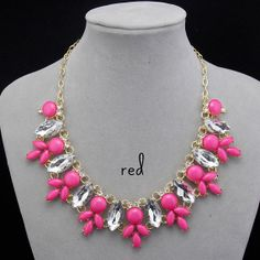 J Crew Inspired Crystal Floral Necklace  5 Colors by FanDuoDuo, $9.00