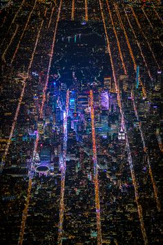 New York City At Night - Aerial Photos of New York City - Esquire