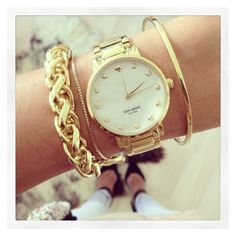 Be Stylish With Watch Stacked Bracelets ❤ liked on Polyvore featuring jewelry, bracelets, stacking bangles and stackers jewelry
