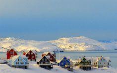 Groenland paysage village