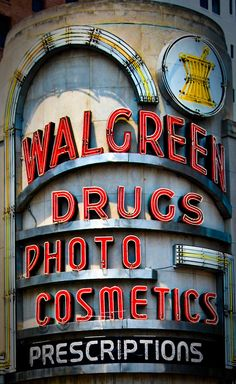 new orleans, advertising campaign, vintage signage, neon signs, old signage, coolers, vintage signs, chicago, walgreen sign