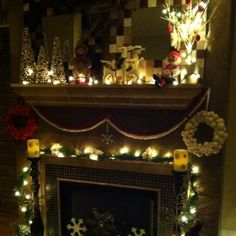 Woodland holiday mantle 1