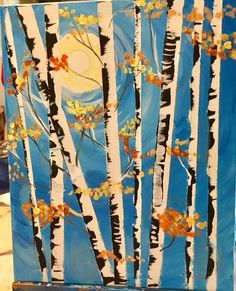 How To Paint Birch Trees In Fall Create your own birch tree canvas wall art!