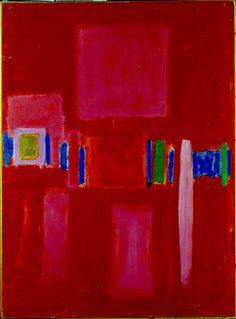 John Hoyland 50-59-Abstract-Composition-1958-50-x-37-Oil-on-board