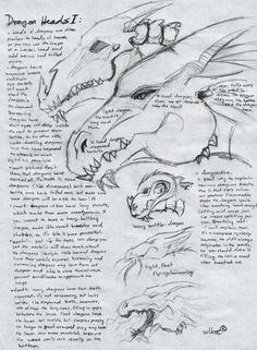 wlker's Dragon Tutorial - 01 by wlker-wolf on DeviantArt Dragon Skeleton, Dragon Eye, Dragon Head Drawing, Satanic Art, Dragon's Lair, Anatomy For Artists, Creature Drawings, Dragon Pictures, Creature Concept Art