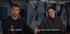 Interview: Theo James & Shailene Woodley talk about playing Tris & Four in Allegiant
