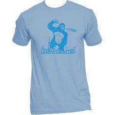 Giant King Kong Like Gorilla Stomps Through Seattle Unisex T-shirt