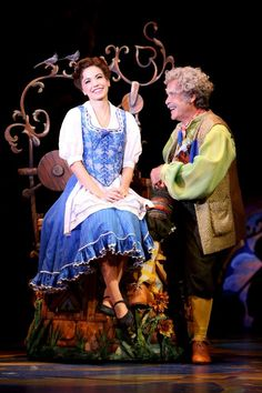 Belle and her dad,Maurice :) Beauty and the Beast (Broadway Tour)