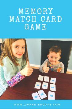 A fun, easy memory match card activity for beginner readers. Fun Educational Games, Fun Card Games, Matching Games, Your Cards, Memories, Activities, Easy, Books, Memoirs