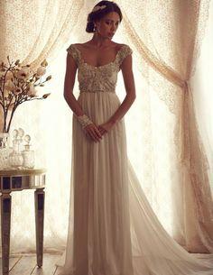 """Vestido típico para noivas discretas que gosta de um """"Q"""" de luxo."""