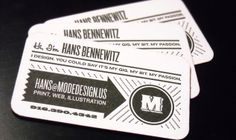 Business Card Inspiration: love the typefaces, and how bold it is