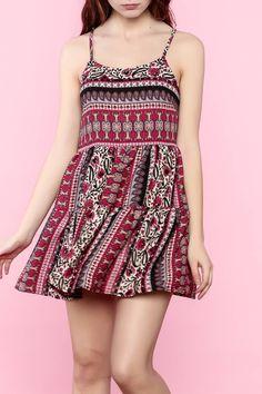 649d1d9de6b Shoptiques Product  Fit and Flare Dress - main Bohemian Print