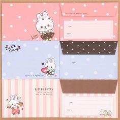 kawaii rabbit dot animal Letter Set from Japan 2