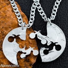 Dirt bike necklace motocross couples Guys jewelry extreme