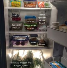 3ac36dce0a3 Here s a little snapshot of my fridge a few days post-food prep. As