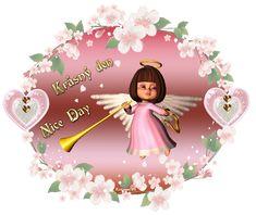 054 přání krásný den Good Morning Gif, Good Day, Princess Peach, Christmas Ornaments, Mondays, Night, Holiday Decor, Fairies, Angels