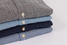 Portuguese Flannel Nogueira Shirt - Navy Twill | The Shopkeeper Store