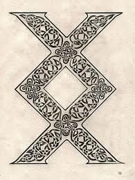 "viking symbol called inguz, means ""where there is a will, there is a way."""