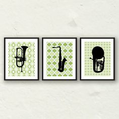 Modern Musical Instruments Wall Decor  Trumpet by PaperFinchDesign, $40.00
