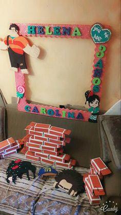 Marco cajitas para dulces y photo props Ralph el demoledor. Wreck it Ralph