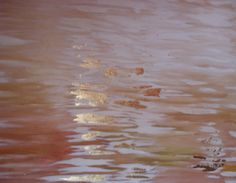 """""""Waters"""", painting (acrilyc and golden foil), 2010, point of view n.1."""