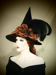 Hey, I found this really awesome Etsy listing at https://www.etsy.com/listing/183689634/couture-witch-hat-sassy-sorceress-21-one