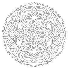 Blank Coloring Pages, Colouring Pics, Mandala Coloring Pages, Coloring Sheets, Coloring Books, Zentangle Patterns, Mandala Pattern, Mandala Art, Doodle Patterns