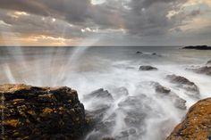 Porth Colmon Suntset by Andrew Wilson