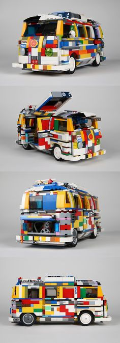 wanted a Lego VW Camper for Christmas. He didn't get one so he build his own version using the Lego he already had.Pelle wanted a Lego VW Camper for Christmas. He didn't get one so he build his own version using the Lego he already had. Lego Camper, Vw Camper, Lego Cars, Lego Auto, Lego Technic, Lego Ninjago, Vw T1, Volkswagen, Technique Lego