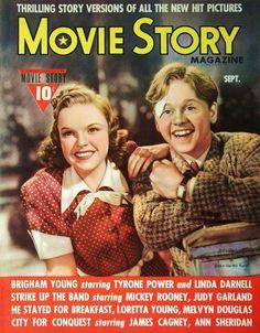 Judy Garland & Mickey Rooney - Movie Story, Sept, 1940.