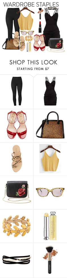 """Wardrobe Staple"" by tia2 ❤ liked on Polyvore featuring Venus, Gucci, Vera Bradley, Loeffler Randall, Charlotte Russe, Sheriff&Cherry, Christian Dior, Kenneth Jay Lane, Smashbox and plus size clothing"