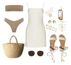 A fashion look from February 2018 featuring tube dress, strapless bikini and flats sandals. Browse and shop related looks. Holiday Outfits Women, Summer Outfits, Mode Outfits, Fashion Outfits, Womens Fashion, Polyvore Outfits, Polyvore Fashion, Classy Outfits, Casual Outfits