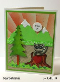 Very sweet scene on a card for kids