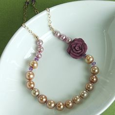 pearls and a rose