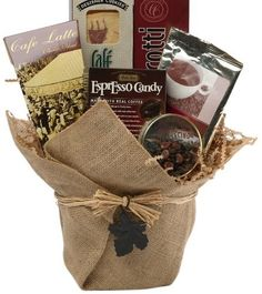 Art of Appreciation Gift Baskets Espresso Yourself Coffee & Snacks Gift Basket Coffee Gift Baskets, Gift Baskets For Men, Themed Gift Baskets, Gourmet Gift Baskets, Raffle Baskets, Gourmet Gifts, Food Gifts, Basket Gift, Hamper Gift